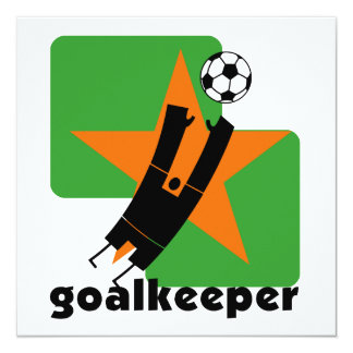 Star Goalkeeper T shirts and Gifts 5.25x5.25 Square Paper Invitation Card