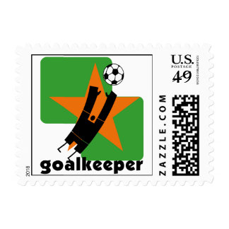 Star Goalkeeper T-shirts and Gifts Postage Stamp