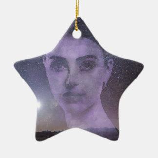 Star Goddess Ceramic Ornament