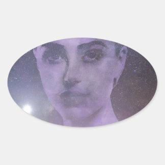 Star Goddess Oval Sticker