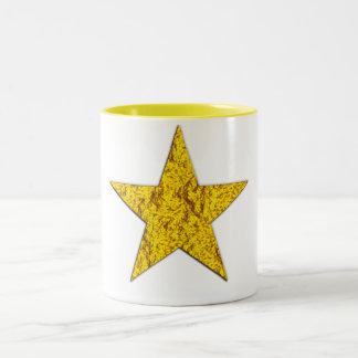Star (gold nugget) Two-Tone coffee mug