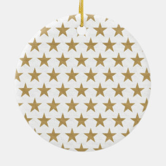 Star Gold pattern with cotton texture Ceramic Ornament