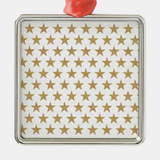 Star Gold pattern with cotton texture Metal Ornament