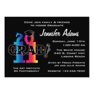 Star Grad 2011 5x7 Paper Invitation Card
