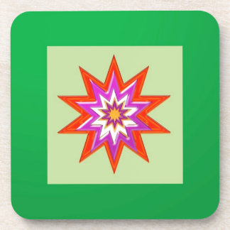 STAR green background BLESSING MAGIC lowprice Beverage Coaster