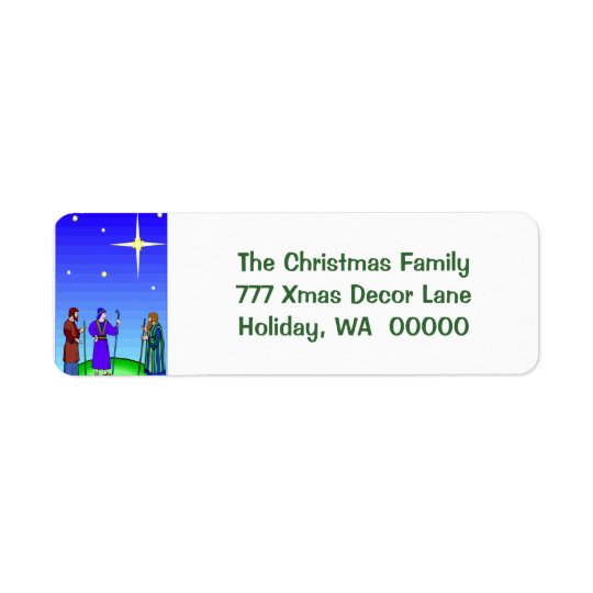 Star Guides Wise Men Christmas Self Adhesive Label