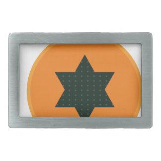 star half fruit rectangular belt buckle