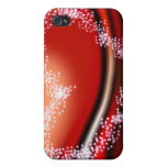 Star Heart on Red iPhone 4/4S Covers