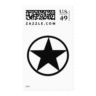 Star in circle postage stamp
