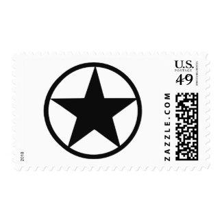 Star in circle stamp