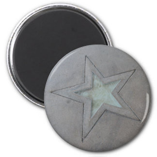 Star in Hollywood 2 Inch Round Magnet