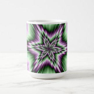 Star in Purple and Green Mug