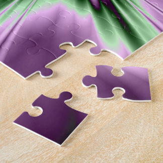 Star in Purple and Green Puzzle