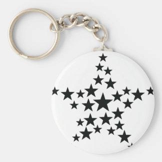 star in star icon keychain