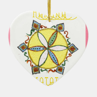 Star in the Making Hakuna Matata Double-Sided Heart Ceramic Christmas Ornament