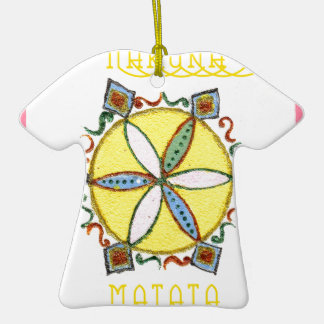 Star in the Making Hakuna Matata Double-Sided T-Shirt Ceramic Christmas Ornament