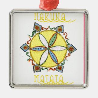 Star in the Making Hakuna Matata Square Metal Christmas Ornament