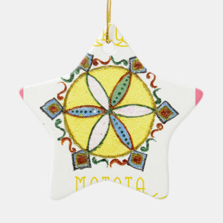 Star in the Making Hakuna Matata Double-Sided Star Ceramic Christmas Ornament