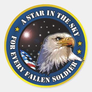 Star in the Sky Classic Round Sticker