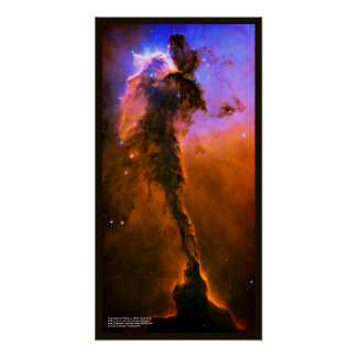 Star Incubating Tower in Eagle Nebula, M16 Poster