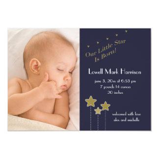 Star is Born Photo Birth Announcement
