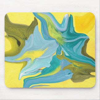 star is born yellow & aqua colored mouse pad