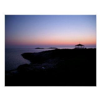Star Island Sunset Poster