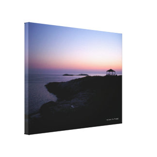 Star Island Sunset Wrapped Canvas Print