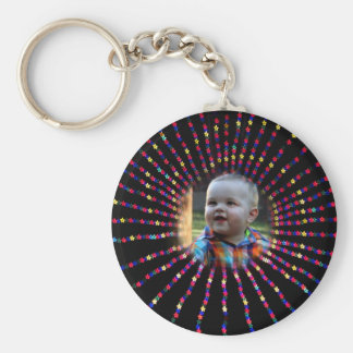 Star Key Chain with Customizable Photo