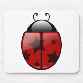 Star Ladybug, Ladybug with Stars Mouse Pad