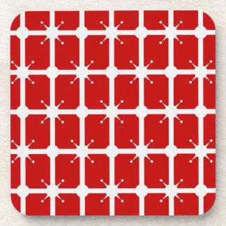 Star Lattice On Red Coasters