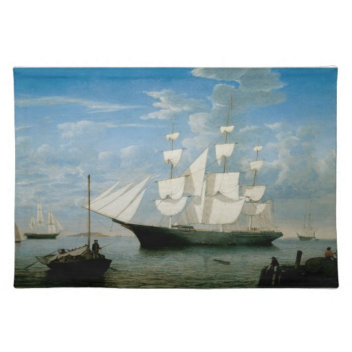 Star Light in Boston Harbor Cloth Placemat