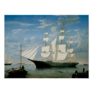 Star Light in Boston Harbor Poster
