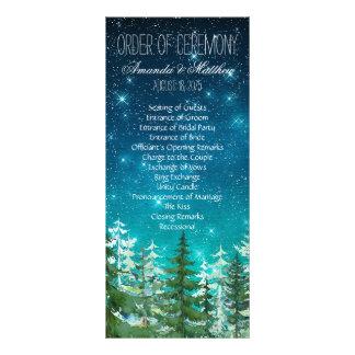 Star Light Night Forest Wedding Order of Ceremony Rack Card