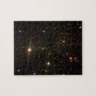 Star light, space display,  Infinity light tunnel Jigsaw Puzzle