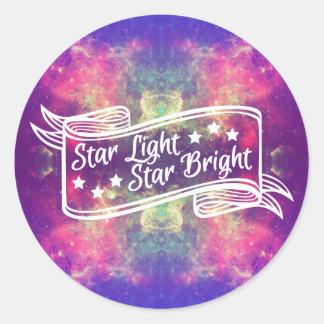 Star Light Star Bright Classic Round Sticker