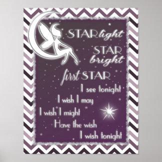 Star Light Star Bright Nursery Sign Poster