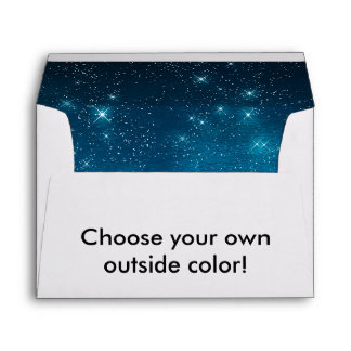 Star Light Starry Night Any Color Envelope