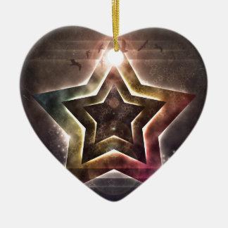 Star Lights Ceramic Ornament