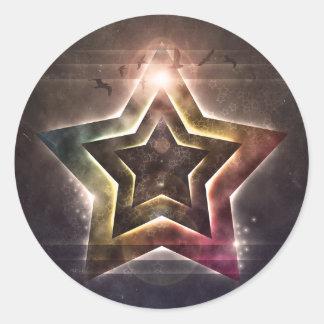Star Lights Classic Round Sticker