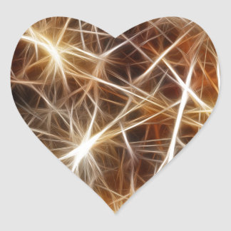star lights heart sticker