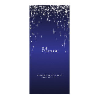 Star Lights in Dark Blue - Menu