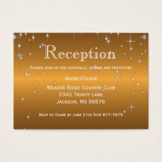 Star Lights in Metallic Gold - Reception Business Card