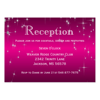 Star Lights in Metallic Hot Pink - Reception Large Business Card