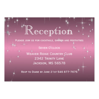 Star Lights in Metallic Pink - Reception Large Business Card
