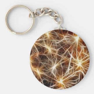 star lights basic round button keychain
