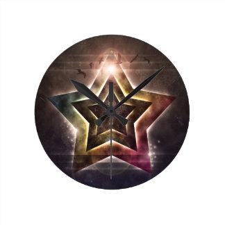 Star Lights Round Clock