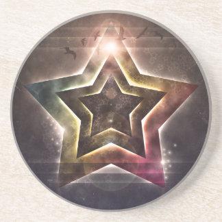 Star Lights Sandstone Coaster