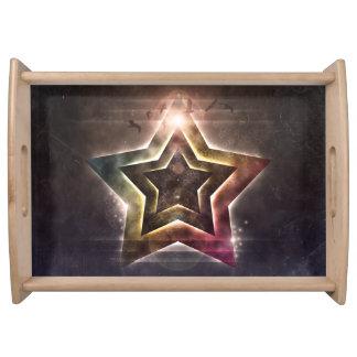 Star Lights Serving Tray