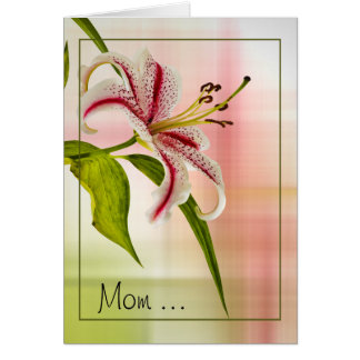 Star Lily Floral Mother's Day Card
